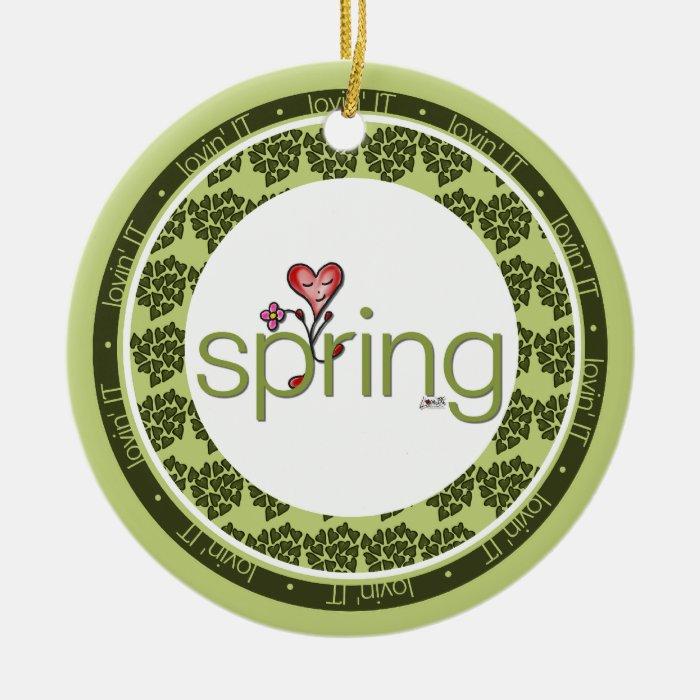 Love Spring Heart Ornament