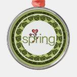 Love Spring Heart Premium Ornament