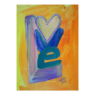 Love Spring Stack Painting Art Poster Print