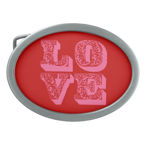LOVE Square Belt Buckle