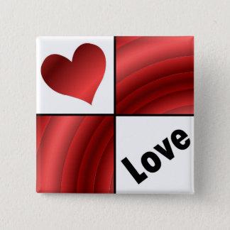Love Square Button