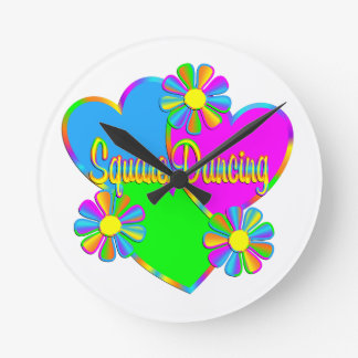 Love Square Dancing Round Clock