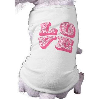 LOVE Square Dog Tshirt