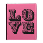 LOVE Square iPad Folio Covers