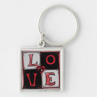 Love square keychain