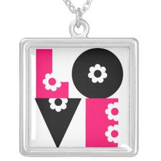 LOVE Square Necklace