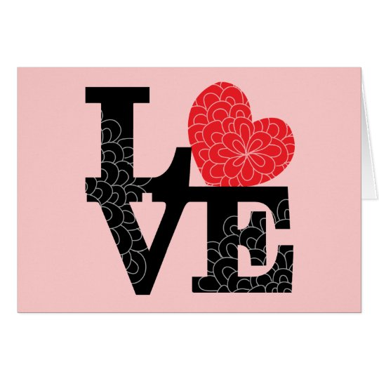 Love Squared Floral Imprint Card
