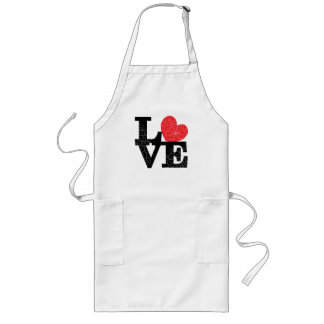Love Squared Floral Imprint Long Apron
