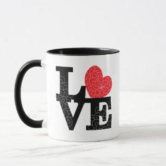 Love Squared Floral Imprint Mug