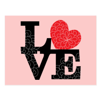 Love Squared Floral Imprint Postcard