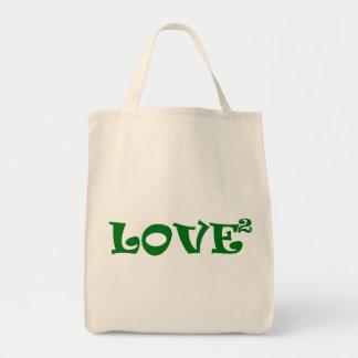 Love Squared in Green Tote Bag