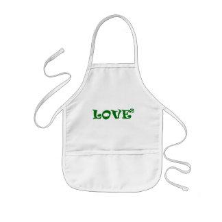 Love Squared in Green Kids' Apron