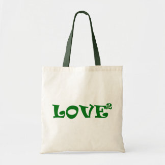 Love Squared in Green Tote Bag