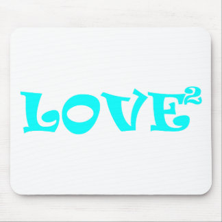 Love Squared in Light Blue Mouse Pad