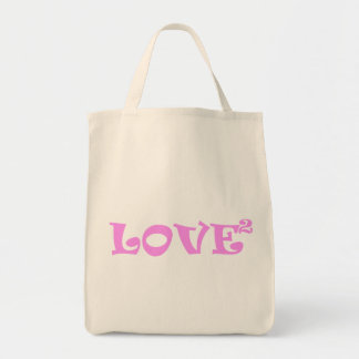 Love Squared in Pink Tote Bags