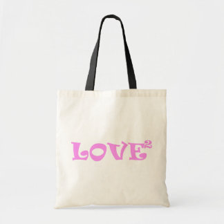 Love Squared in Pink Canvas Bag