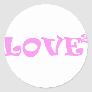 Love Squared in Pink Classic Round Sticker