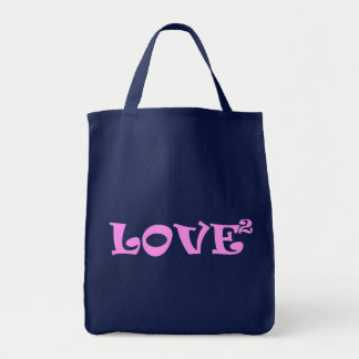 Love Squared in Pink Tote Bag