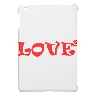 Love Squared in Red Case For The iPad Mini