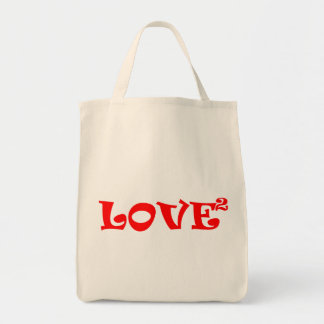 Love Squared in Red Tote Bag