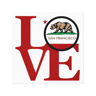 LOVE Squared San Francisco Canvas Print