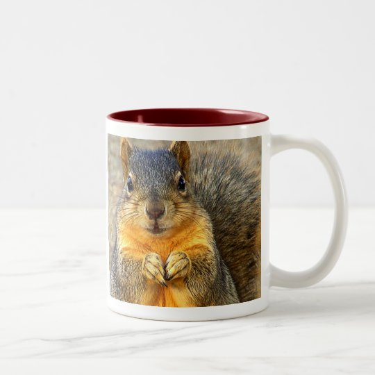 Love Squirrel_ Two-Tone Coffee Mug
