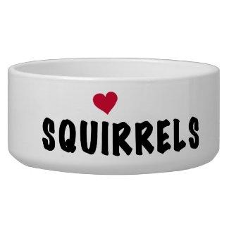 Love Squirrels Dog Dish Pet Bowls