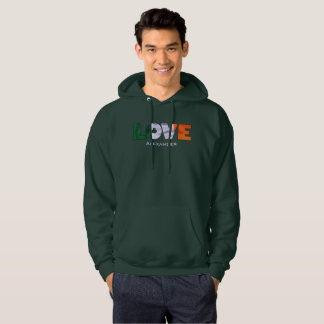Love St. Patricks Day Irish Flag Hoodie
