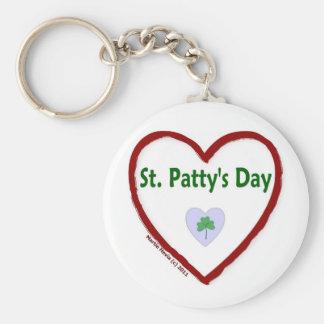 Love St. Patty's Day Keychain