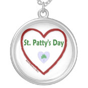 Love St. Patty's Day Silver Plated Necklace