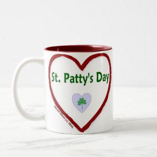 Love St. Patty's Day Two-Tone Coffee Mug