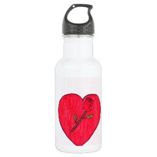 Love Stainless Steel Water Bottle