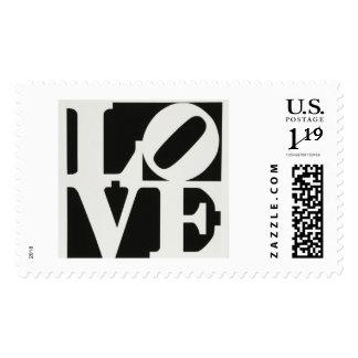 Love Stamp black/white