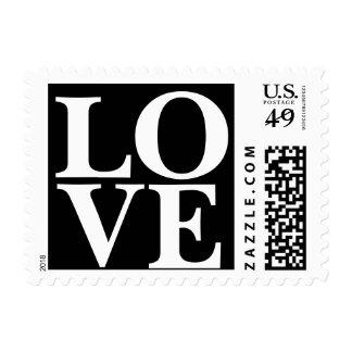 Love Stamp Black White Wedding Colors Classic
