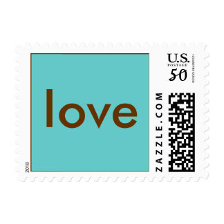 Love Stamp - Blue/Brown - Small