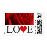 Love Stamps Red Wedding Invitation Postage