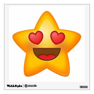 Love Star Emoji Wall Decal