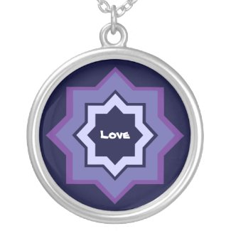 Love Star Pattern Silver Plated Necklace