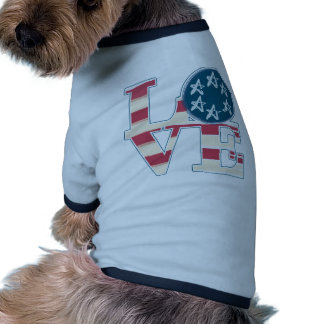LOVE Stars and Stripes Pet Clothes