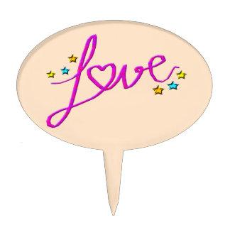 Love Stars Cake Topper