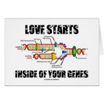 Love Starts Inside Of Your Genes (DNA Replication) Card