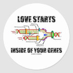 Love Starts Inside Of Your Genes (DNA Replication) Sticker