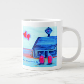 ...love station...art by Jutta Gabriel... Giant Coffee Mug