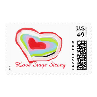 Love Stays Strong Stamp