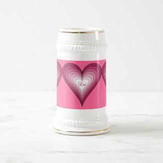 Love stein 18 oz beer stein