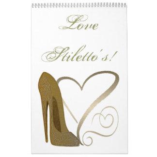 Love Stiletto's Art Custom Printed Calendar