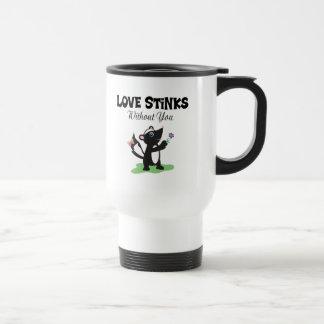 Love Stinks 15 Oz Stainless Steel Travel Mug