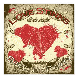 Love Stinks Anti Valentine's Day Party  Invite