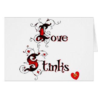 Love Stinks Anti-Valentine's Day Saying Greeting Card