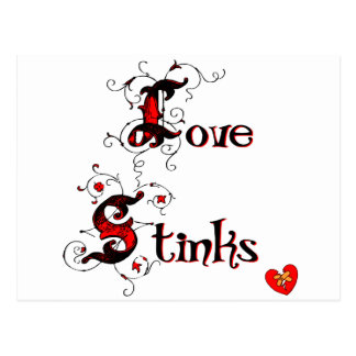 Love Stinks Anti-Valentine's Day Saying Post Card